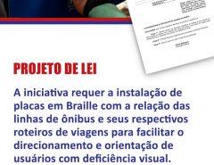 Deputado Kleber Rodrigues propõe sinalização em braille nos terminais rodoviários