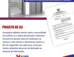 Deputado Kleber Rodrigues apresenta projeto para sinalizar elevadores