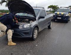 Pick Up Saveiro roubada em Caruaru/PE é recuperada na BR-304 em Macaíba/RN