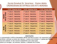 Atenção comunidade escolar do Dr. Severiano