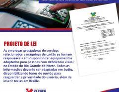 Kleber Rodrigues propõe adaptação das máquinas de cartão para deficientes visuais
