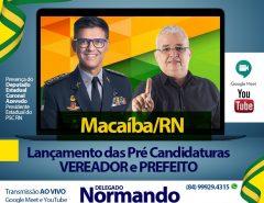 Delegado Normando Feitosa lança pré-campanha a prefeito de Macaíba nesta terça (21)