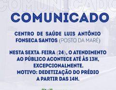 Comunicado: Posto da Maré, Macaíba