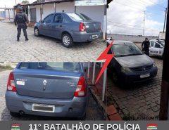 POLÍCIA MILITAR RECUPERA VEÍCULO ROUBADO NA ÁREA DE MACAÍBA