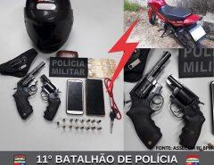 POLÍCIA MILITAR PRENDE DOIS HOMENS E APREENDE DUAS ARMAS DE FOGO EM MACAÍBA