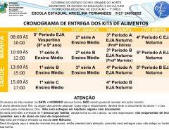 ENTREGA DE CESTAS BÁSICAS EE ARCELINA FERNANDES
