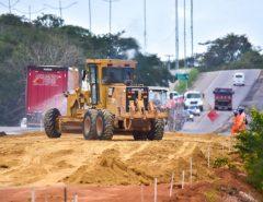 Obras da Reta Tabajara seguem a todo vapor após aporte do Governo Federal