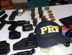 PRF prende homem por porte ilegal de armas de fogo, falsidade ideológica e adulteração de veículo automotor
