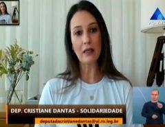 Cristiane destaca campanha da Assembleia e ações de combate a violência doméstica
