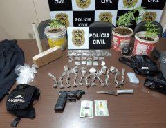 Polícia prende dupla em flagrante suspeita de tráfico de drogas em Macaíba