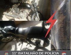 POLÍCIA MILITAR APREENDE MOTO COM QUEIXA DE ROUBO EM MACAÍBA
