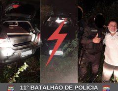 POLÍCIA MILITAR RECUPERA VEÍCULO ROUBADO EM MACAÍBA
