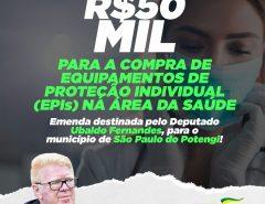 São Paulo do Potengi recebe R$ 50 mil de emendas do deputado Ubaldo Fernandes