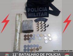 POLÍCIA MILITAR APREENDE DROGAS E MUNIÇÕES EM MACAÍBA