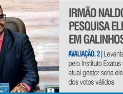 Pesquisa Exatus/Agora RN aponta reeleição do prefeito de Galinhos com 73% dos votos