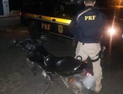 PRF apreende em Goianinha/RN motocicleta adulterada