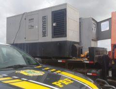 Geradores furtados de uma empresa de telefonia são recuperados pela PRF em Macaíba
