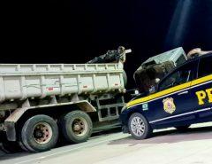 Caminhão clonado é recuperado pela PRF em Macaíba