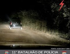 POLÍCIA MILITAR RECUPERA CARRO ROUBADO EM MACAÍBA