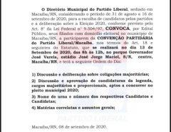 Convenção Municipal do partido PL/Macaíba
