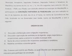 Convenção do partido PSDB/Macaíba