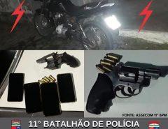 POLÍCIA MILITAR PRENDE HOMEM E APREENDE ARMA DE FOGO EM MACAÍBA