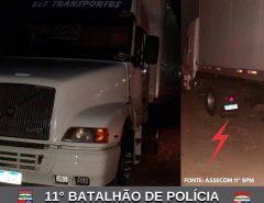POLÍCIA MILITAR RECUPERA CAMINHÃO ROUBADO EM MACAÍBA