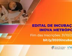 Inscrições para seleção de startups da Inova Metrópole se encerram no dia 31