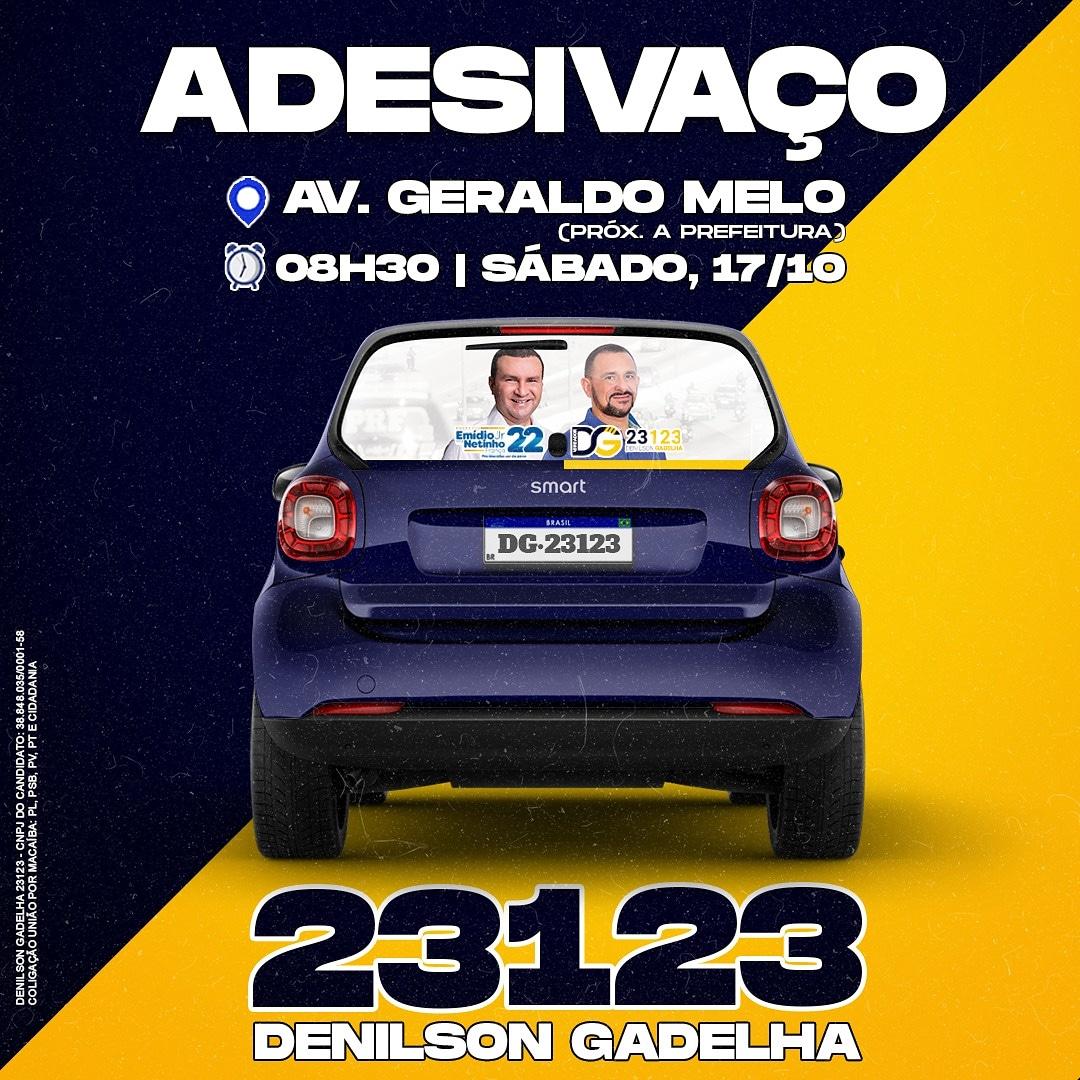 Adesivaço da campanha de Denilson Gadelha será no próximo sábado (17)