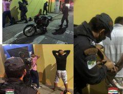 Barreira policial em Macaíba