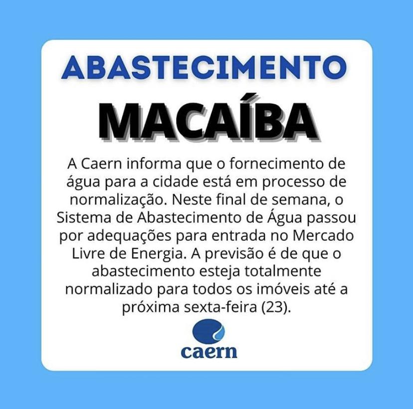 Abastecimento de água em Macaíba
