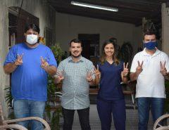 Nutricionista Raiane Soares e seu esposo Bruno declaram apoio a Emídio e Netinho