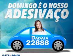 Adesivaço marcará lançamento de candidatura à reeleição da vereadora Dadaia Ribeiro