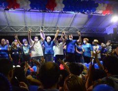 Eleitores realizam passeata histórica para Emídio Jr e Netinho França em Macaíba