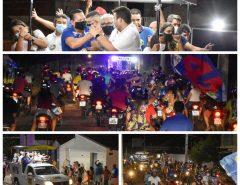 Seridó: Ezequiel, Tadeu e Toinho reforçam a onda 45 com comícios relâmpagos em Caicó