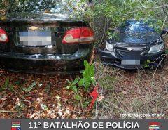 POLICIAIS MILITARES DO 11° BPM RECUPERAM DOIS VEÍCULOS ROUBADOS EM MACAÍBA