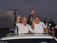 Candidato a prefeito Delegado Normando realiza passeata pelo centro de Macaíba