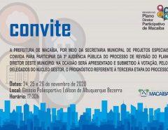 Plano Diretor de Macaíba avança para a fase de prognóstico e convoca 3ª Audiência Pública