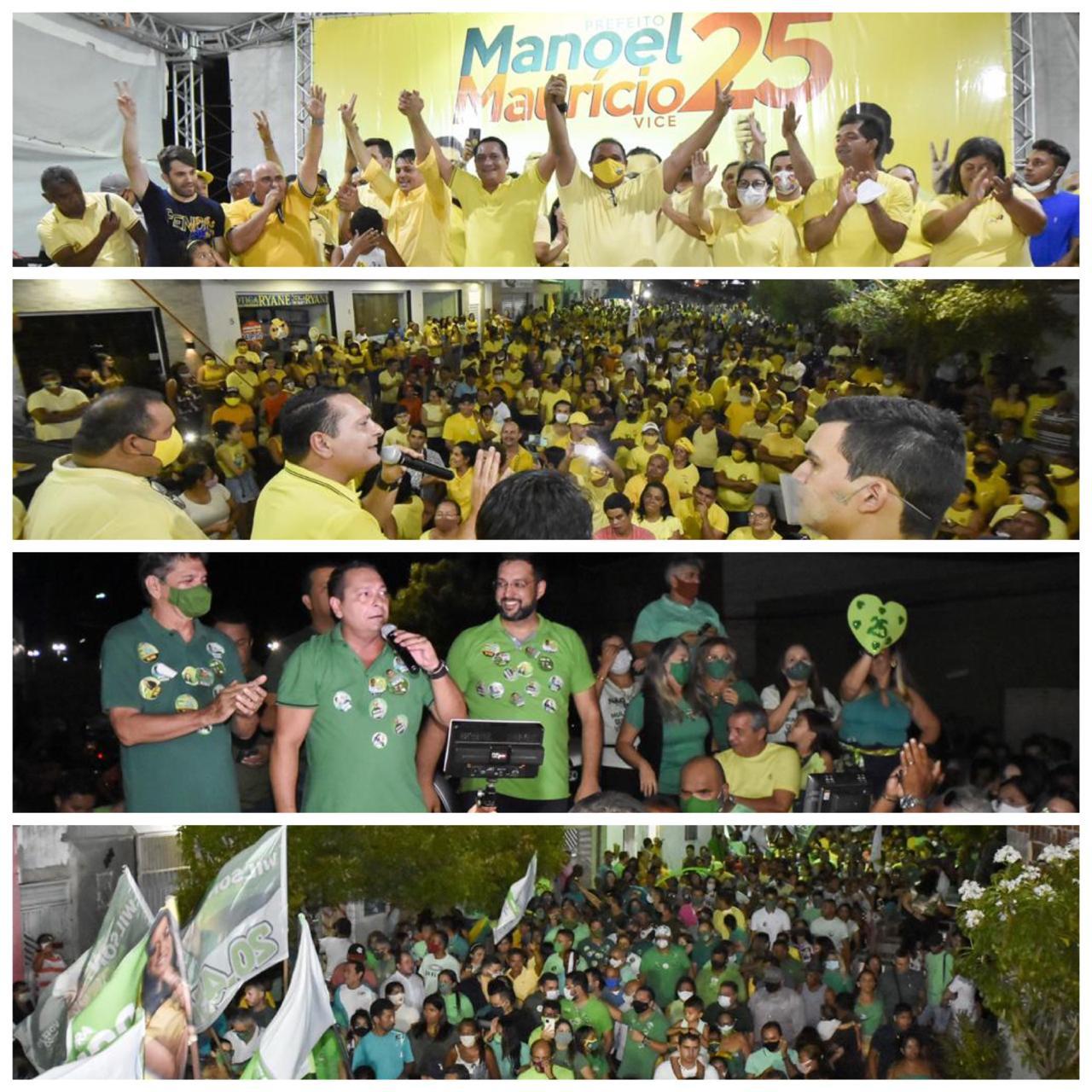 Ezequiel reforça as campanhas de Manoel e Maurício em João Câmara e Dr. Zé e Aladim em Macau