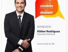Programa Senadinho em Debate recebe deputado estadual Kléber Rodrigues nesta quinta (26)