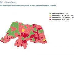 137 cidades do RN têm taxas de transmissão da Covid-19 em zonas de 'risco' ou 'perigo'; Macaíba está na zona de risco