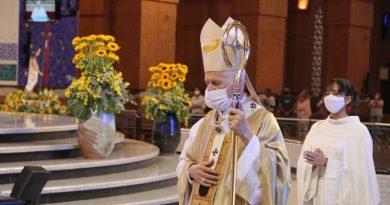 Após liberação do STF, Basílica de Aparecida realiza missa de Páscoa com presença de 150 fiéis
