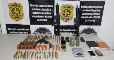 Polícia Civil prende duas pessoas em São Pedro do Potengi e apreende fuzis que seriam usados em resgate de presos no RN