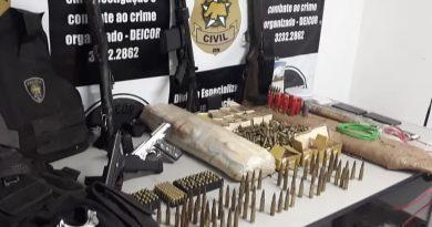 Fuzis e mais de 20 kg de explosivos achados no RN seriam usados em ataque a penitenciária de Alcaçuz, diz delegado