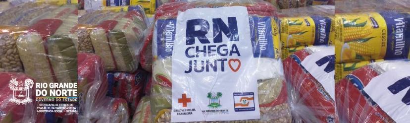 Campanha RN Chega Junto no Combate à Fome entrega mais de 5 mil cestas na Região Metropolitana de Natal