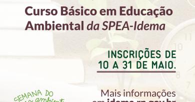 Idema abre inscrições para Curso em Educação Ambiental