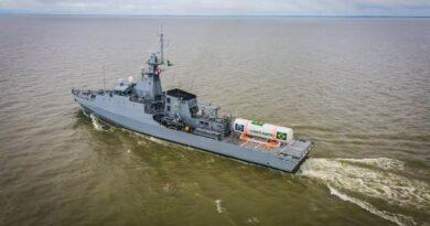 Navio da Marinha chega hoje (02) a Belém (PA) com tanque de 90 mil m3 de oxigênio.
